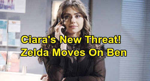 Days of Our Lives Spoilers: Leaked Audition Reveals Ciara's New Threat – Troublemaker Zelda Makes Her Move On Ben