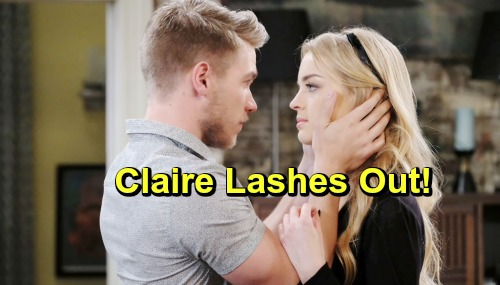 Days of Our Lives Spoilers: Volatile Claire Lashes Out At Tripp - It Won't Be Pretty as Violence Looms