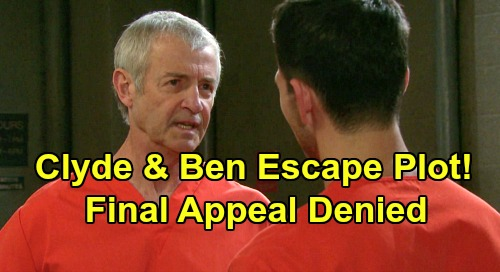 Days of Our Lives Spoilers: Clyde's Prison Escape Plot - Ben Faces Death Penalty - Pushes Son to Break Out Together