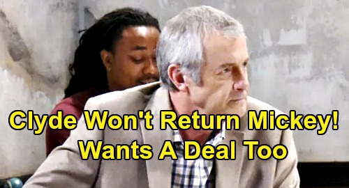 Days of Our Lives Spoilers: Mickey's Kidnapper Keeps Sarah's Baby Unless Clyde Gets a Deal