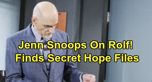 Days of Our Lives Spoilers: Jennifer Grills Rolf About Hope - Snooper Finds Answers On Secret Flash Drive?