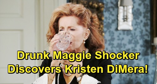 Days of Our Lives Spoilers: Drunk Maggie Learns Nicole and Xander's Secret – Brady Gets a Clue With Kristen DiMera Mask Claims