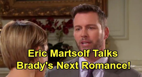 Days of Our Lives Spoilers: Eric Martsolf Talks Lonely Brady's Love Life – Broken Heart Desperately Needs Real, Lasting Romance