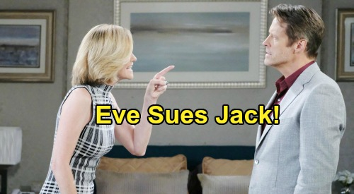 Days of Our Lives Spoilers: Eve Fights Back With Justin's Help - Sues Jack In Shocking Lawsuit?