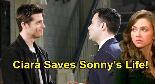 Days of Our Lives Spoilers: Ciara Saves Sonny's Life, Wrestles Evan's Gun Away – Bursts in with Will to Stop Deadly Showdown