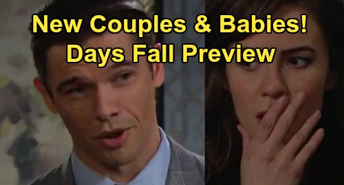 Days of Our Lives Spoilers Fall Preview: Jack & Jen Finally Reconnect - Lani & Eli Tie The Knot – Sarah's Morning Sickness
