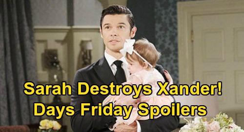 Days of Our Lives Spoilers: Friday, April 10 – Sarah's Revenge After Mickey Devastation, Xander Destroyed – Steve Memory Trouble