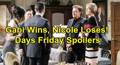 Days of Our Lives Spoilers: Friday, August 2 – Gabi's Huge Victory, Nicole's Crushing Defeat – Rex Fumes as Sarah Confesses