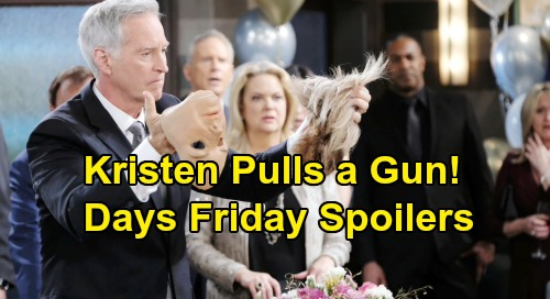 Days of Our Lives Spoilers: Friday, August 23 – Kristen Pulls Gun on Marlena – Furious Brady and Eric Want Answers
