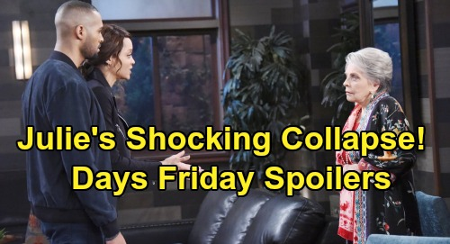 Days of Our Lives Spoilers: Friday, August 30 – Julie's Medical Shocker – Chicago Nicole Search - Stabi's New Roomie
