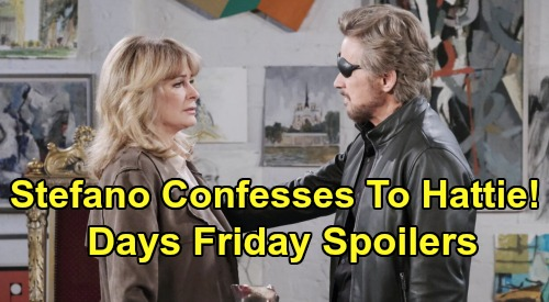 Days of Our Lives Spoilers: Friday, February 7 – Stefano Confesses To Hattie - Ben & Clyde Escape With Will's Help