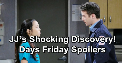 Days of Our Lives Spoilers: Friday, January 11 – Chad Impresses Abigail - JJ's Shocking Discovery