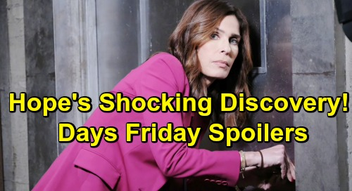 Days of Our Lives Spoilers: Friday, July 12 – Kristen's Risky Hostage Deal – Hope's Shocking Discovery – Tripp's New Roomies