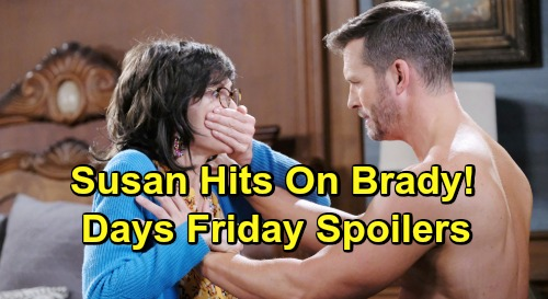 Days of Our Lives Spoilers: Friday, July 19 - Xander Fights Gabi - Brady Fends Off 'Susan' - The Real Susan Arrives