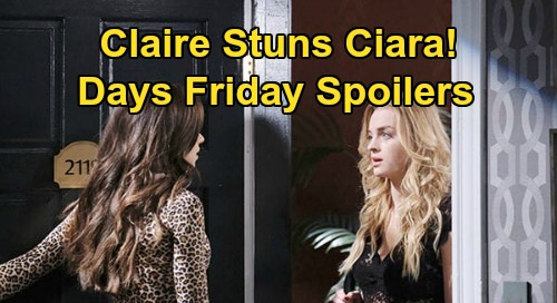 Days of Our Lives Spoilers: Friday, June 12 – Claire's Visit Stuns Ciara – Allie's Baby Bomb Hits Lucas – Brady Faces Confrontation