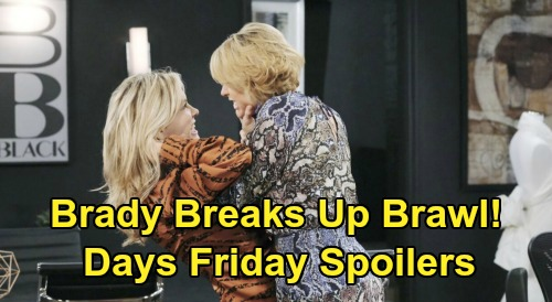 Days of Our Lives Spoilers: Friday, March 20 – Chad Knocks Out Kate, Locks Her Up with Gabi – Brady Stops Nicole & Kristen's Brawl