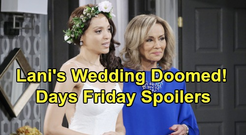 Days of Our Lives Spoilers: Friday, November 1 – Tamara Price Returns - Lani Reunites with Mom on Doomed Wedding Day