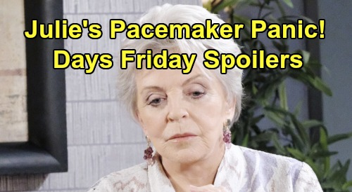 Days of Our Lives Spoilers: Friday, November 15 – Kristen's Horror Story – Julie's Pacemaker Goes Haywire – Marlena's Surprise Return