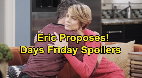 Days of Our Lives Spoilers: Friday, November 22 – Eric's Proposal Stuns Nicole, Baby Reveal Follows – Xander Turns In Confession