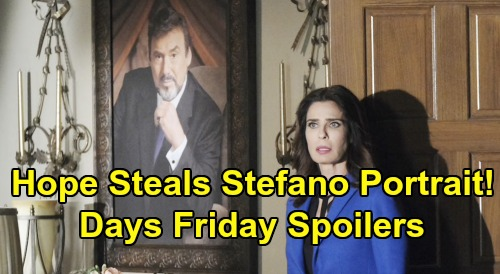 Days of Our Lives Spoilers: Friday, October 18 – Hope Steals Stefano's Portrait – Nicole Sticks To Lie – Ben's Apology