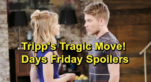 Days of Our Lives Spoilers: Friday, June 21 – Sami Trashes 'Nicole' to Eric – Tripp Dumps Claire, Kicks Off Tragic Trap