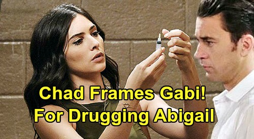 Days of Our Lives Spoilers: Chad Frames Gabi For Drugging Abigail - Manipulates Jake Syringe Lab Results?