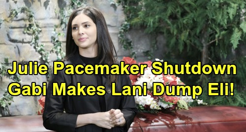 Days of Our Lives Spoilers: Gabi Threatens To Shut Down Julie's Pacemaker - Forces Lani To Dump Eli At Altar
