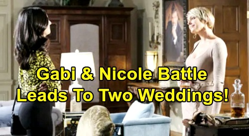 Days of Our Lives Spoilers: Gabi and Nicole's Vicious Fight - Battle For DiMera CEO Position Leads To Two Weddings