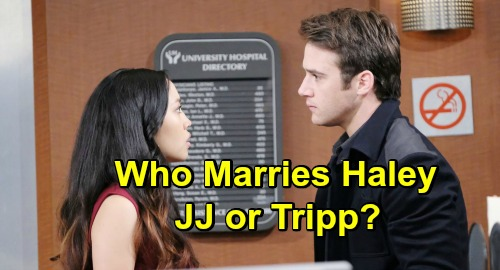Days of Our Lives Spoilers: Who Will Marry Haley To Keep Her In The Country - JJ or Tripp?