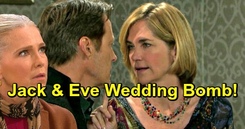 Days of Our Lives Spoilers: Jack and Eve's Wedding Bombshell Twists the Knife for Jennifer