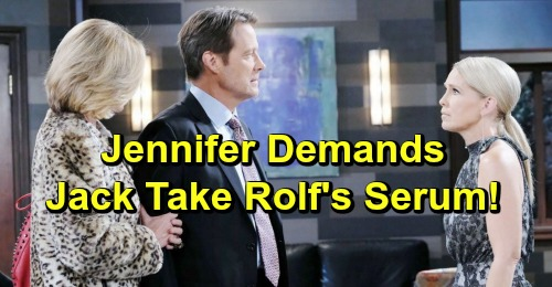 Days of Our Lives Spoilers: Jennifer Urges Jack To Take Rolf's Deadly Serum - Eve Fights Back Hard