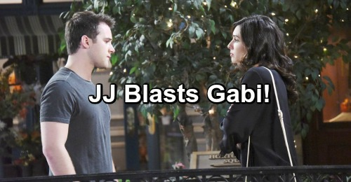 Days of Our Lives Spoilers: JJ Rages At Gabi For Deception - Blasts Her For Hurting Abigail