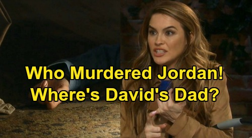 Days of Our Lives Spoilers: Jordan's Death Raises Big Questions - Who Murdered Her, And Where's David's Father?