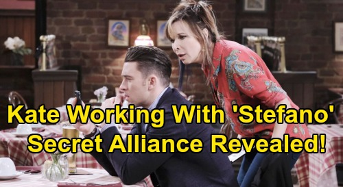 Days of Our Lives Spoilers: Kate's Secret Revealed, Working With 'Stefano' – Romance Follows?