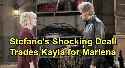 Days of Our Lives Spoilers: Stefano's Wild Deal With Justin - Trades Marlena In Exchange For Kayla