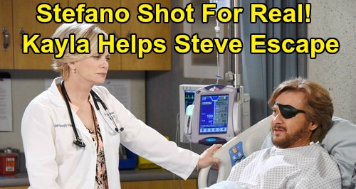 Days of Our Lives Spoilers: Stefano Shot For Real - Kayla Smuggles 'Steve' Out of Hospital