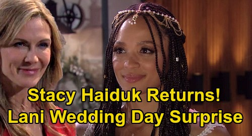 Days of Our Lives Spoilers: Stacy Haiduk Returns to DOOL - Kristen Sneaks Back to Salem, Visits Lani on Her Wedding Day