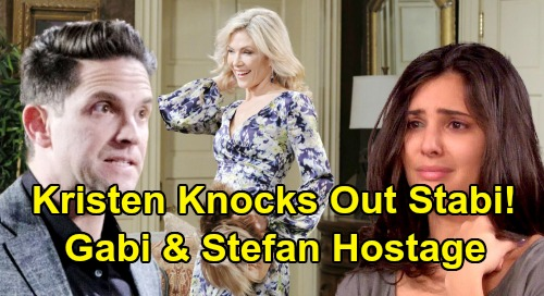 Days of Our Lives Spoilers: Kristen's Attack Leaves Stefan and Gabi Unconscious – New Hostages Have Chance to Kiss and Make Up