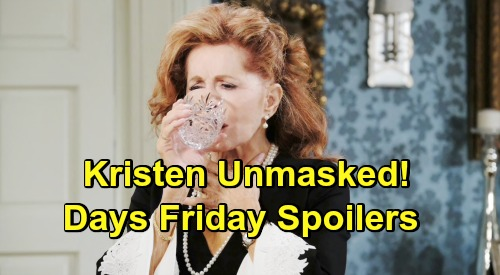 Days of Our Lives Spoilers: Friday, May 24 – 'Nicole' Reveals True Kristen Identity – Chloe Catches Stefan and Gabi in Bed