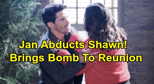 Days of Our Lives Spoilers: Jan Abducts Shawn - Brings Bomb To Last Blast Reunion - 'Last Blast Reunion' Chapter 1 Episode 7 Recap
