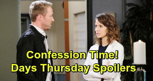 Days of Our Lives Spoilers: Thursday, March 28 – Sarah Confesses to Rex – Rafe Strikes a Blow – JJ Battles Haley Heartache