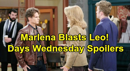 Days of Our Lives Spoilers: Wednesday, February 20 – Leo Faces Marlena's Fury – Will and Sonny's Intense Interrogation