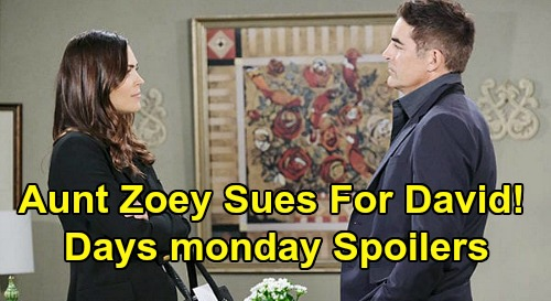 Days of Our Lives Spoilers: Monday, April 20 – Aunt Zoey Sues for David Custody – Jennifer's Horrifying News – Marlena Blasts Orpheus