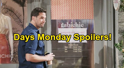 Days of Our Lives Spoilers: Monday, April 27 – Brady Caught with Bloody Knife – Gabi & Jake Close Call - Abigail Freaks Over Hallucination
