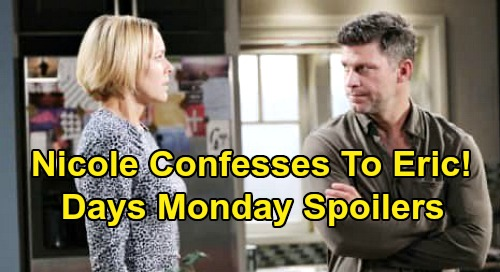 Days of Our Lives Spoilers: Monday, April 6 – Nicole Confesses to Eric – Xander's Troubling Dream – Stefano's Fierce Fight