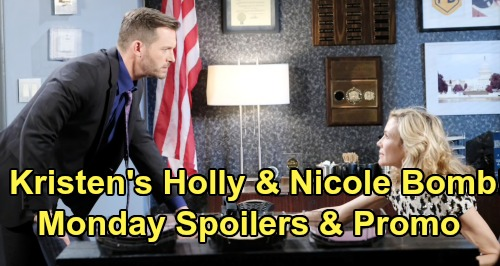 Days of Our Lives Spoilers: Monday, August 26 – Tony Arrested for Ted's Murder - Kristen's Nicole & Holly Confession Rocks Brady