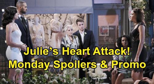 Days of Our Lives Spoilers: Monday, February 17 – Lani Spills Gabi's Crimes – Julie's Heart Attack – 'WilSon' Memories