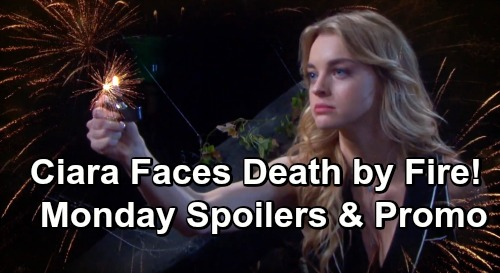 Days of Our Lives Spoilers: Monday, July 1 Preview – Claire Begins Ciara's Murder by Fire – Tripp Hospitalized