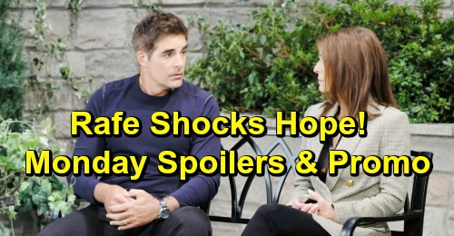 Days of Our Lives Spoilers: Monday, April 8 – Ted Pushes Hope to Divorce – Rafe Becomes David's Guardian – Jennifer Furious