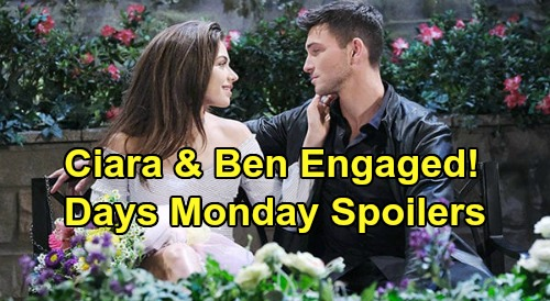 Days of Our Lives Spoilers: Monday, May 11 – Ben Asks Ciara to Marry - Kristen Stops Sarah – Brady & Xander Get Violent